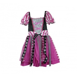 Dětský kostým růžová pirátka