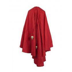 Červený plášť s lebkama