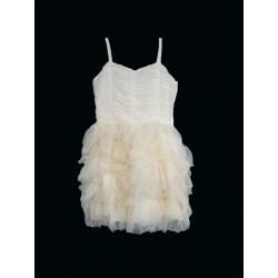 Dívčí krémové šaty