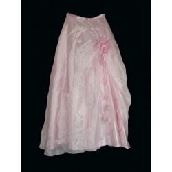 Dívčí společenská růžová sukně