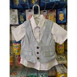 Dětská košile s vestou s...