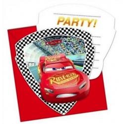 Pozvánky na párty Cars 6 ks